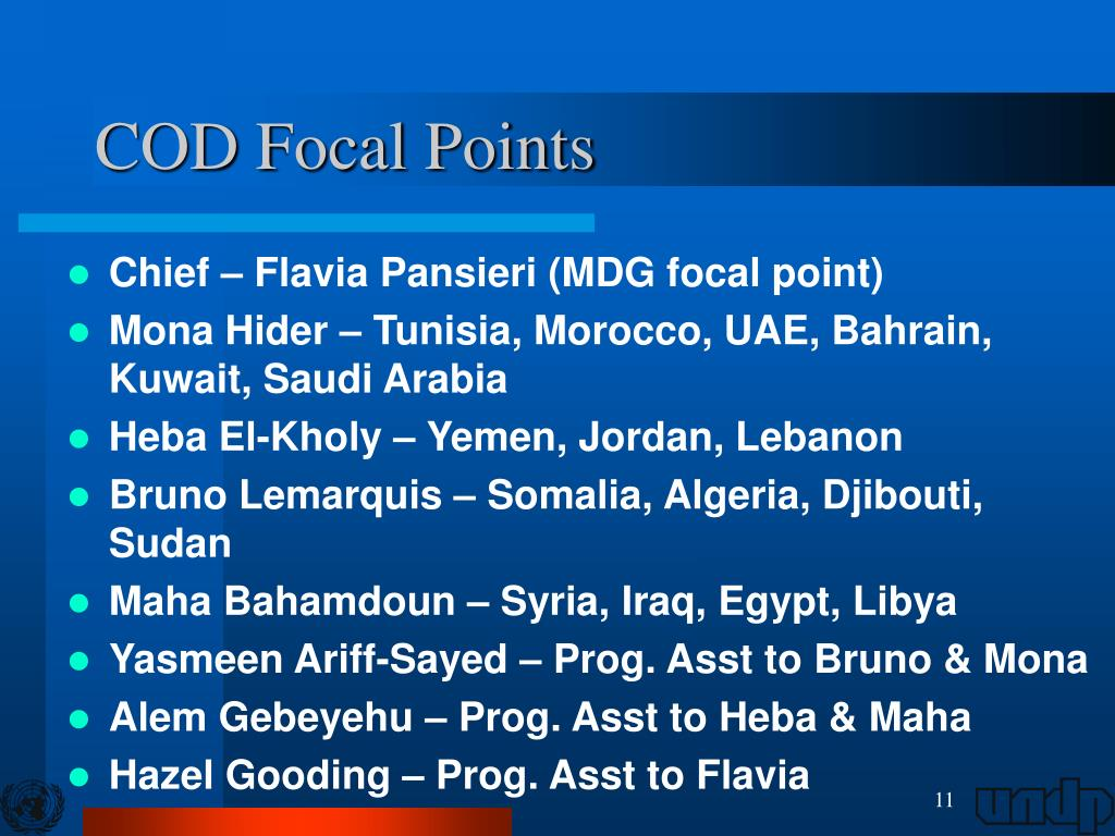 COD Focal Points