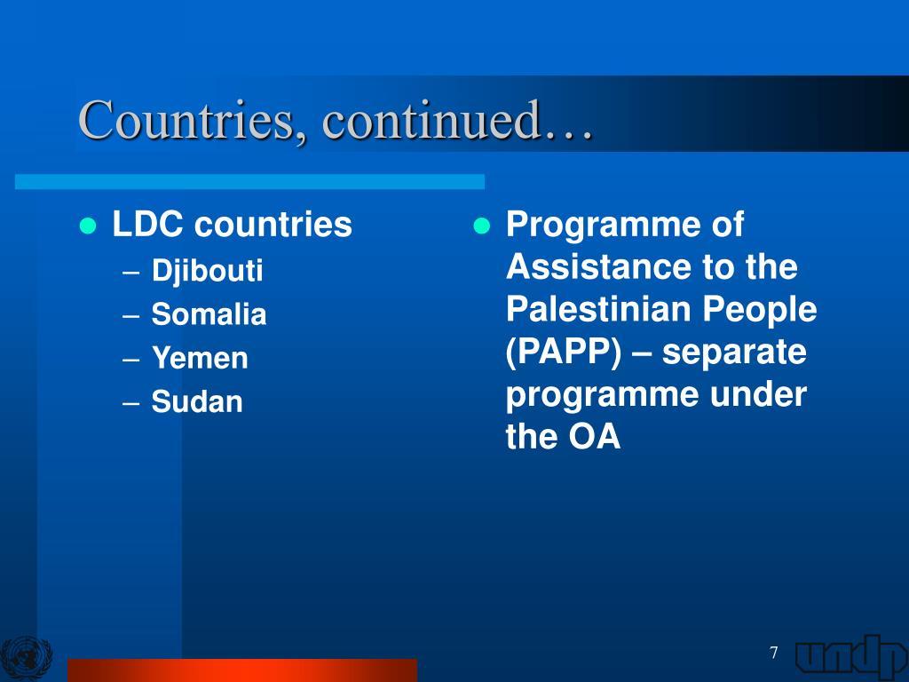 LDC countries
