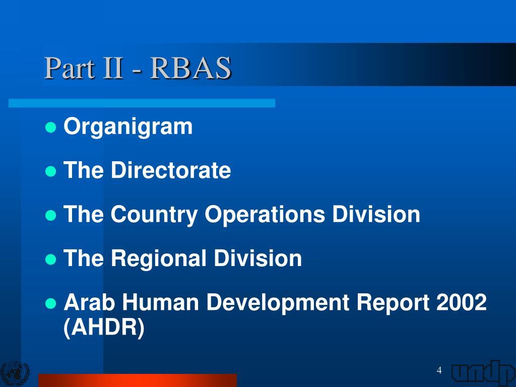 Part II - RBAS