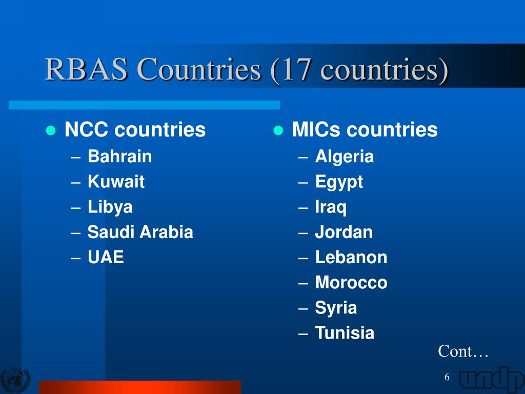 NCC countries