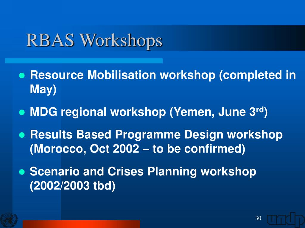RBAS Workshops