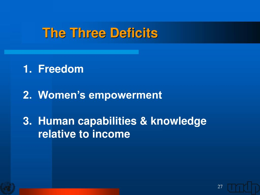 The Three Deficits