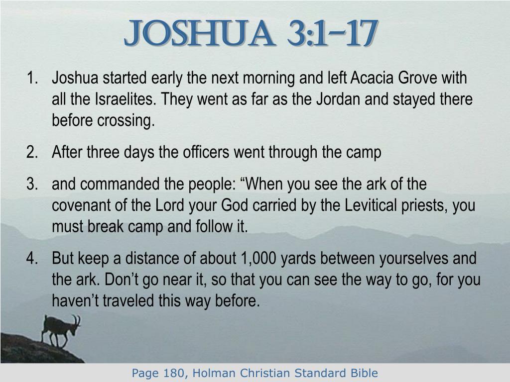 Joshua 3:1-17
