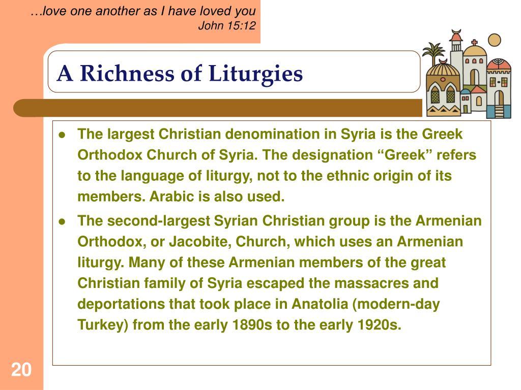 A Richness of Liturgies