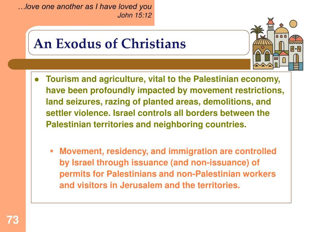An Exodus of Christians