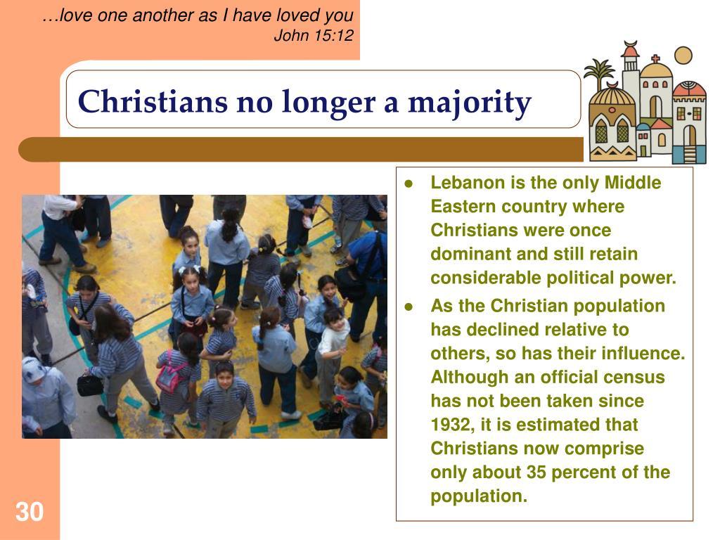 Christians no longer a majority