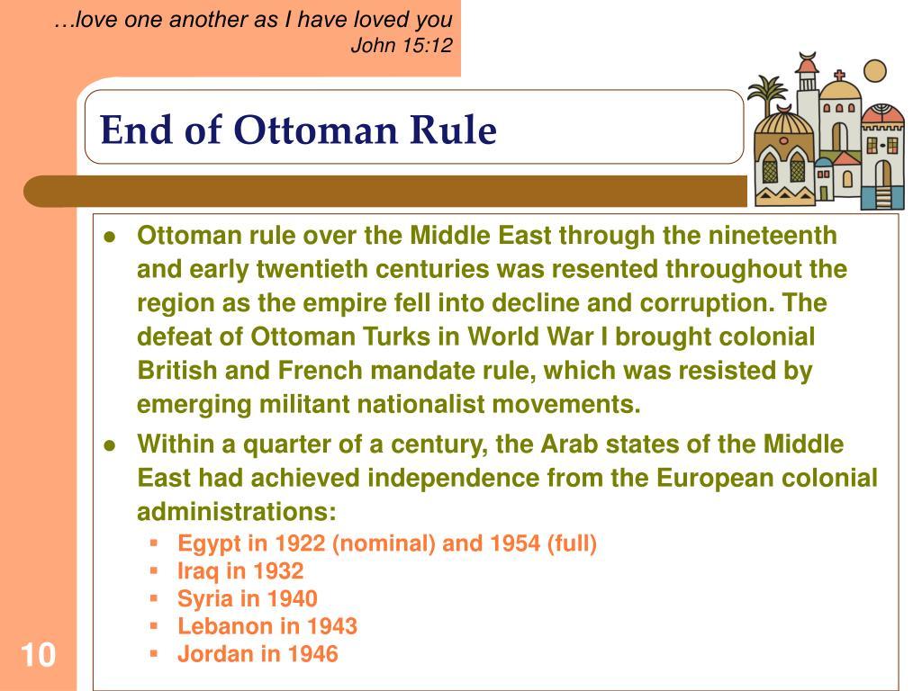 End of Ottoman Rule