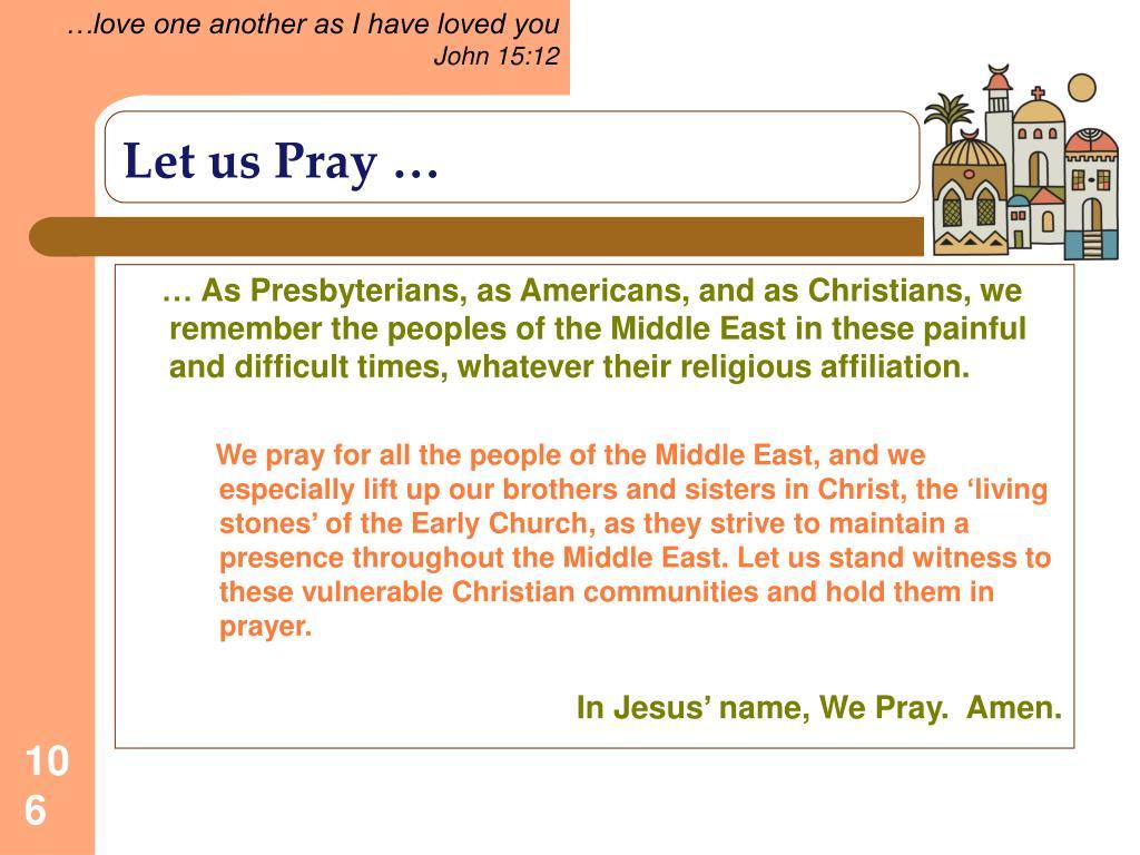 Let us Pray …