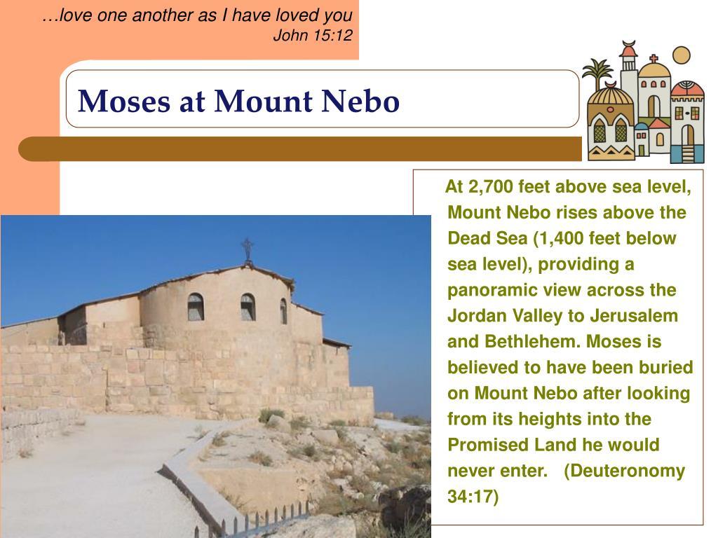 Moses at Mount Nebo