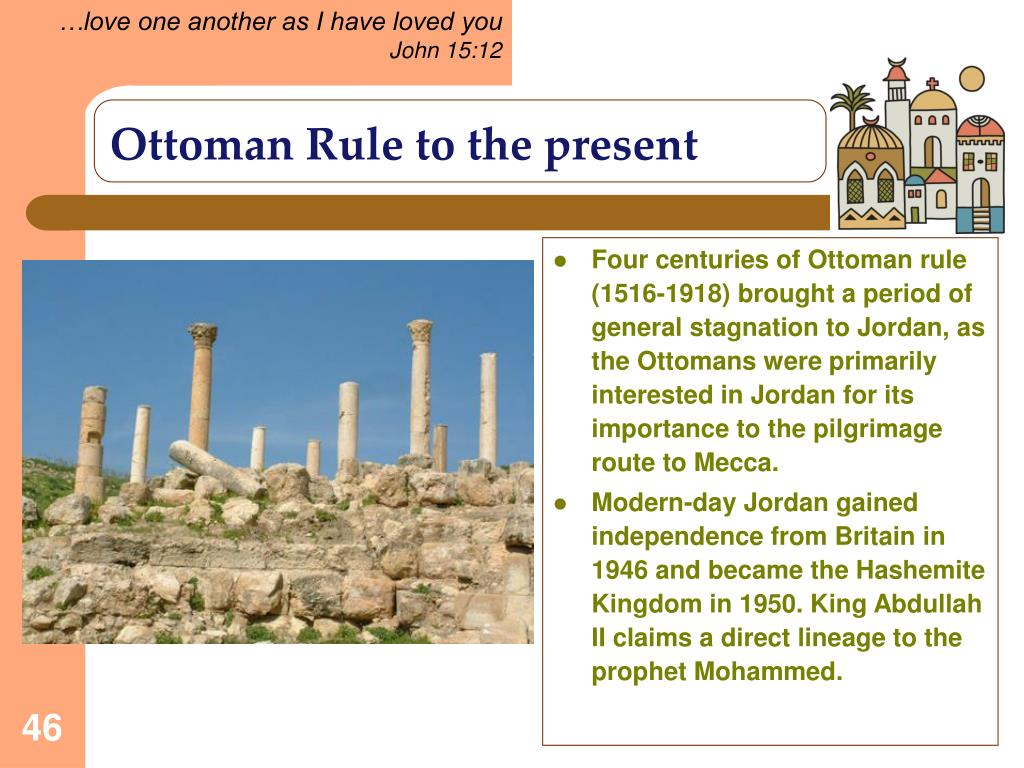 Ottoman Rule to the present
