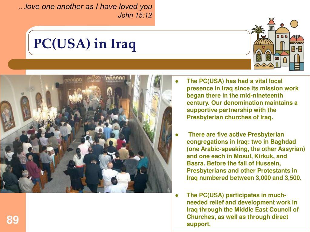PC(USA) in Iraq