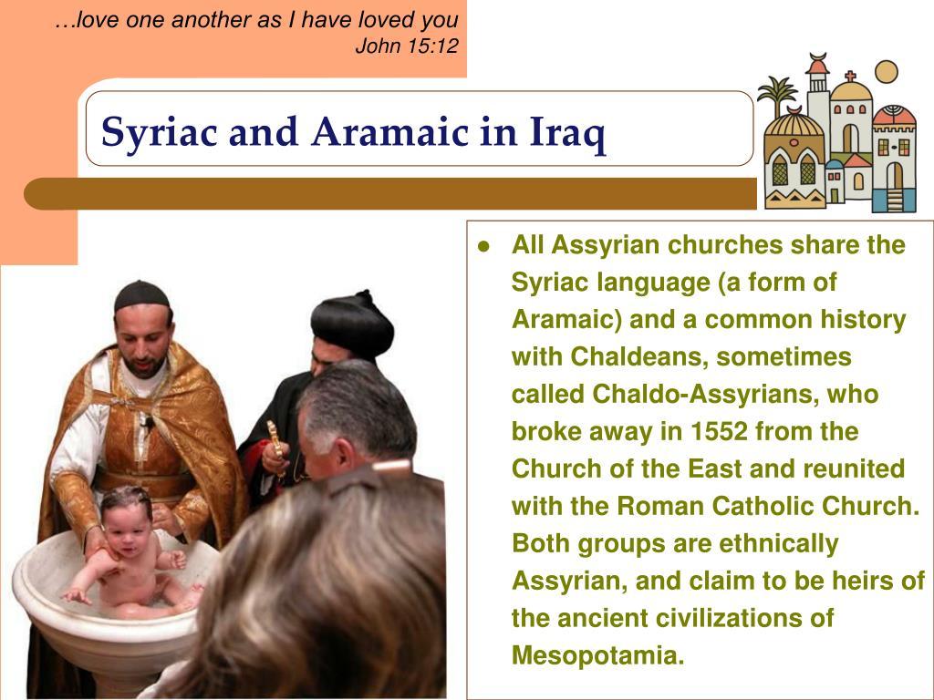Syriac and Aramaic in Iraq