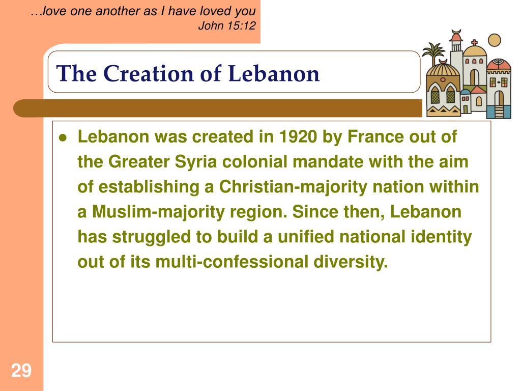 The Creation of Lebanon