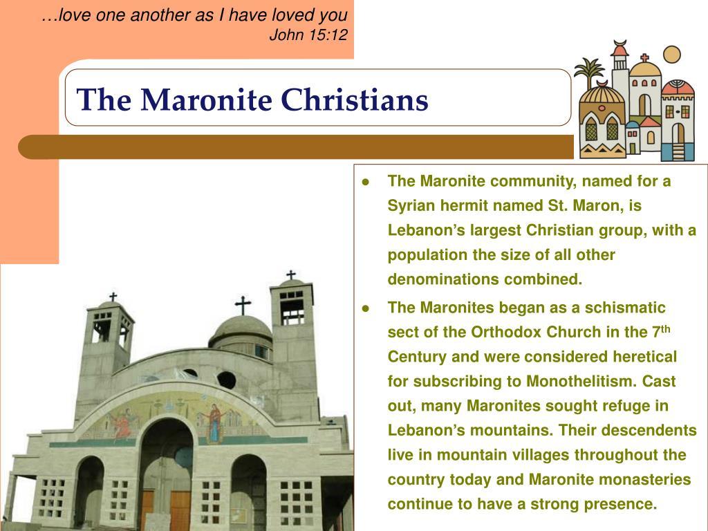 The Maronite Christians