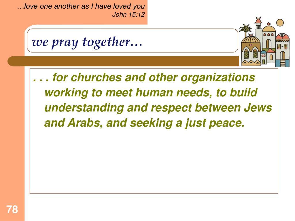 we pray together…