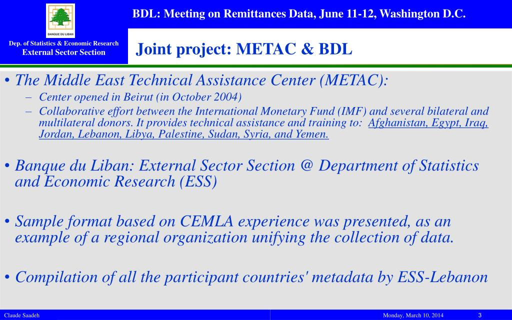 Joint project: METAC & BDL