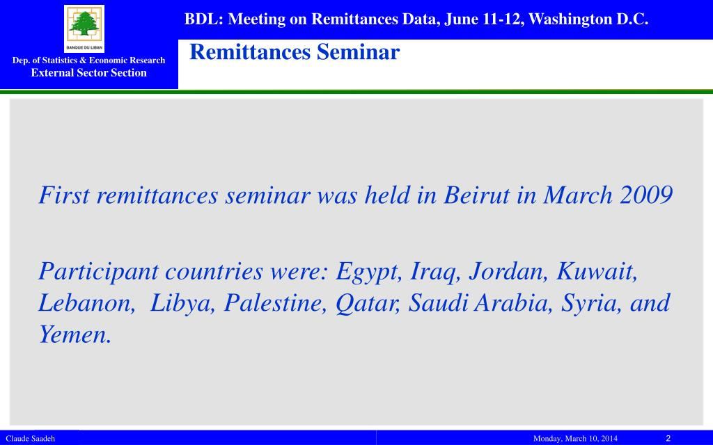 Remittances Seminar