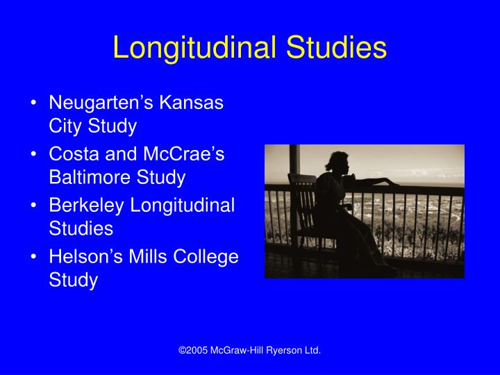 longitudinal studies The integrative analysis of longitudinal studies of aging and dementia (ialsa) research network (nih/nia p01ag043362) was formally established in 2005 to facilitate interdisciplinary, cross-national research on determinants and dynamics of within-person aging-related changes in cognitive and physical capabilities, health, personality, and.