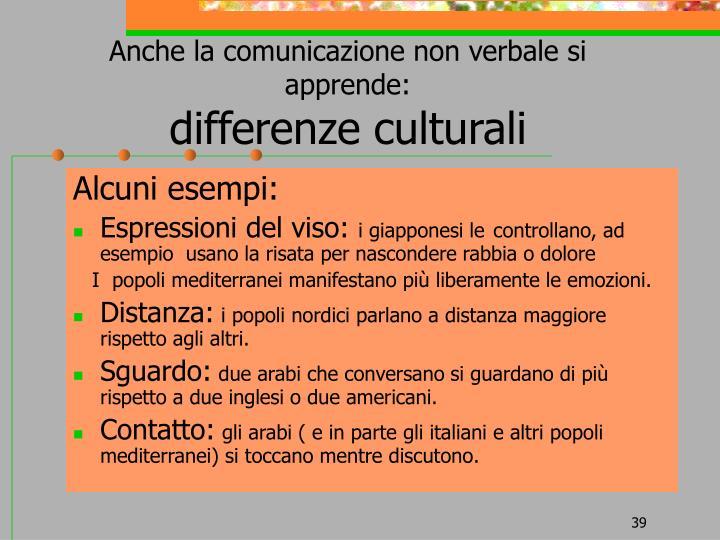 Anche la comunicazione non verbale si apprende:
