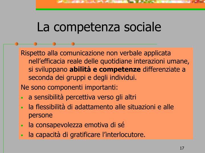 La competenza sociale