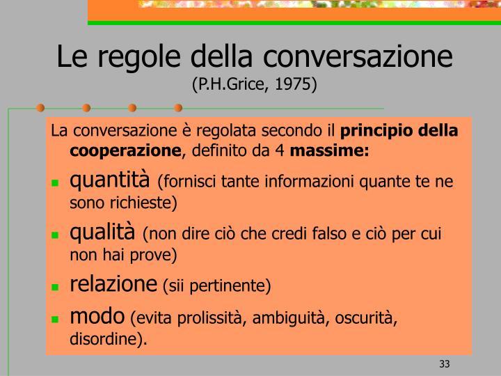 Le regole della conversazione