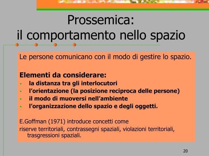 Prossemica:
