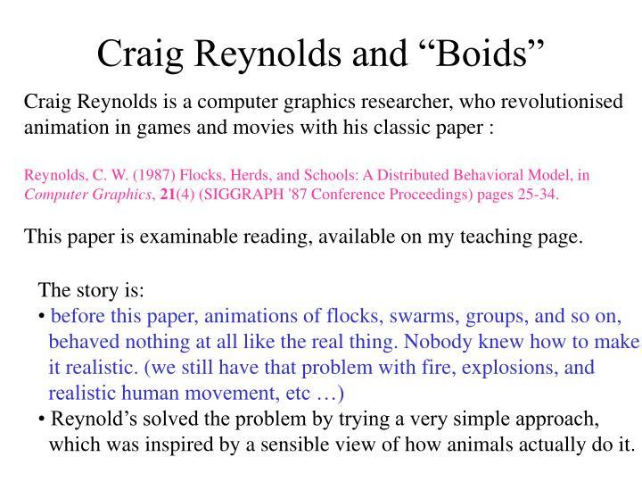 "Craig Reynolds and ""Boids"""