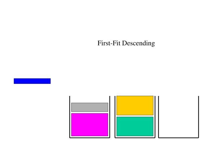 First-Fit Descending