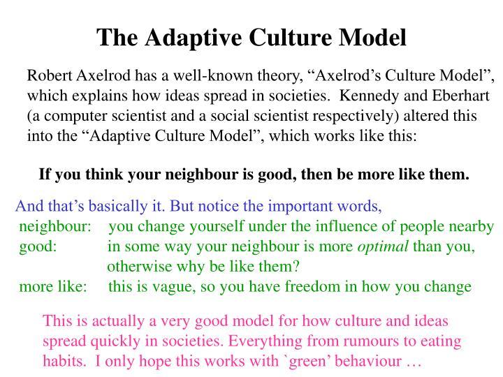The Adaptive Culture Model