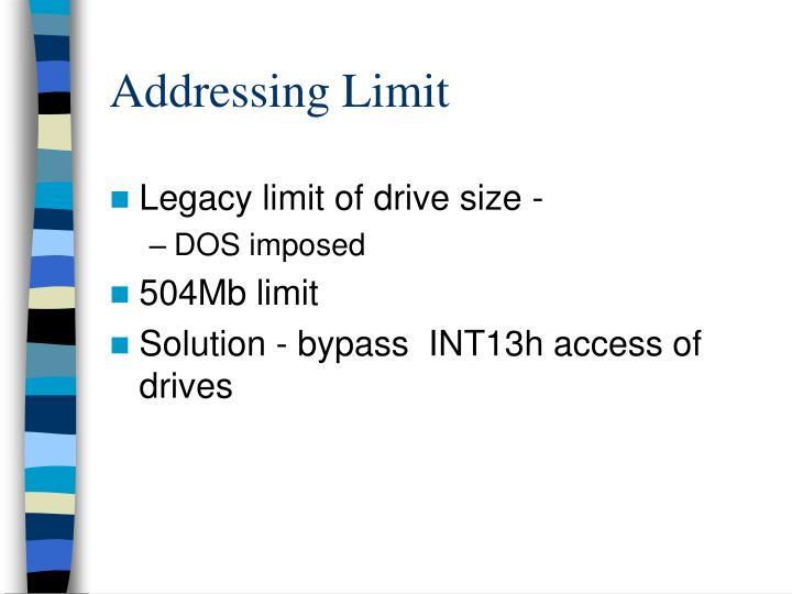 Addressing Limit