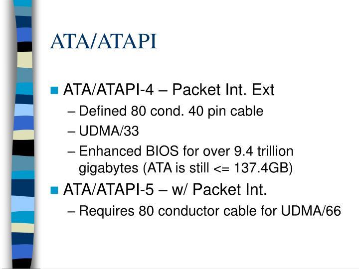 ATA/ATAPI