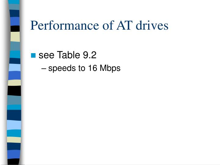 Performance of AT drives