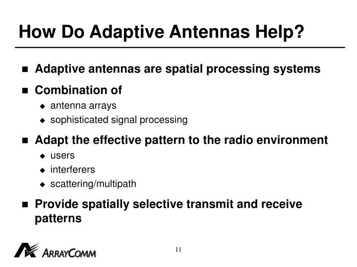 How Do Adaptive Antennas Help?