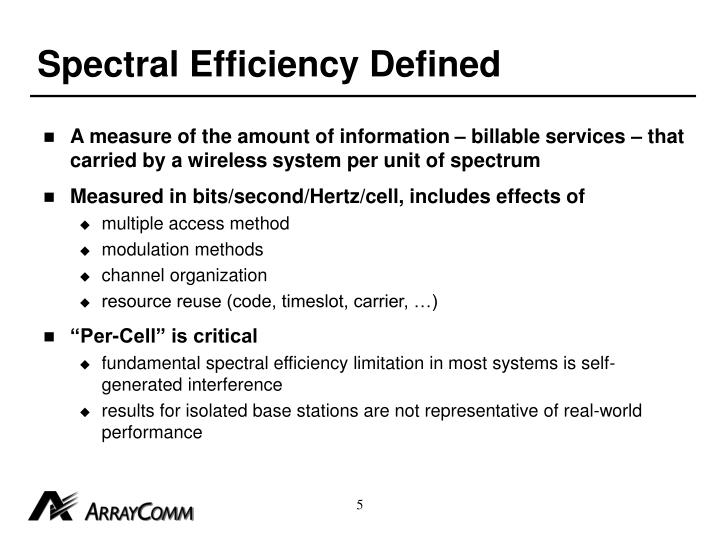 Spectral Efficiency Defined
