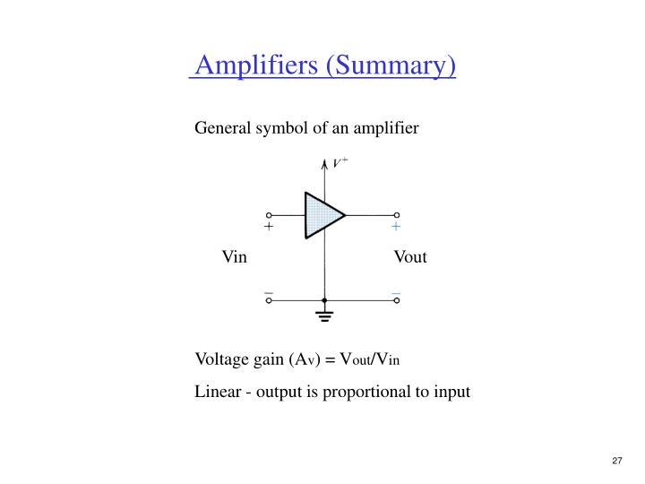 Amplifiers (Summary)
