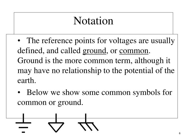 The reference points for voltages are usually defined, and called