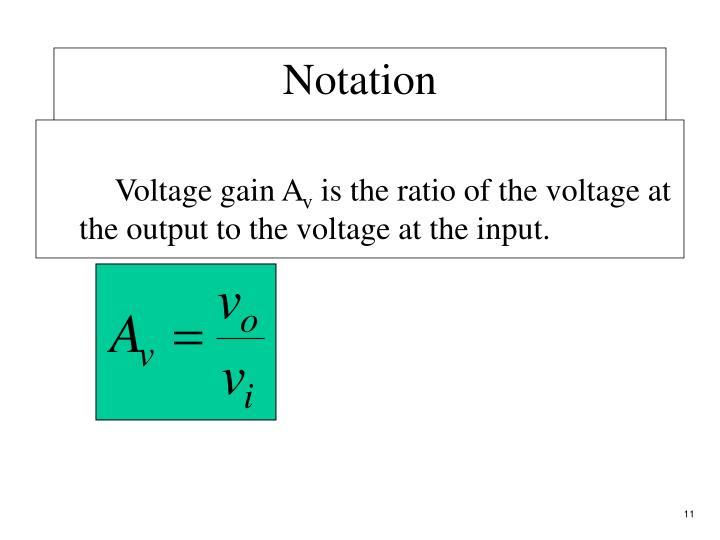 Voltage gain A