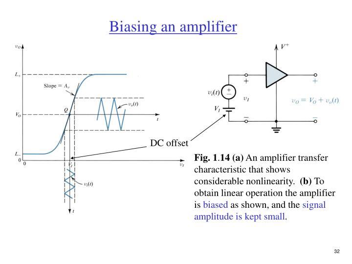 Biasing an amplifier