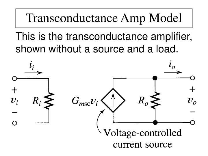 Transconductance Amp Model