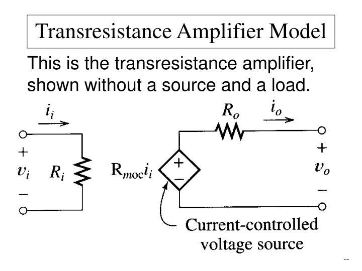 Transresistance Amplifier Model