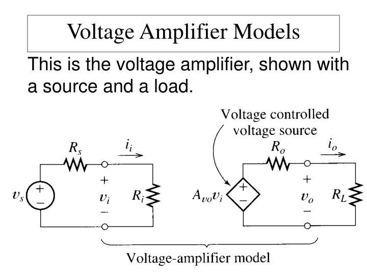 Voltage Amplifier Models