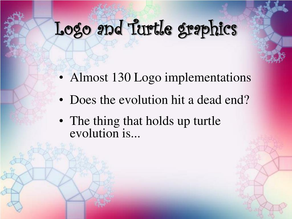 Logo and Turtle graphics
