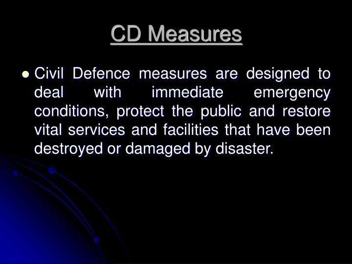 Cd measures