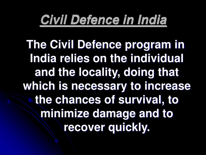 Civil Defence in India