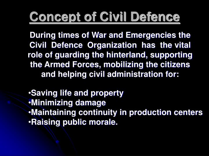 Concept of Civil Defence