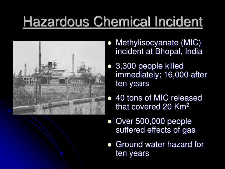 Hazardous Chemical Incident