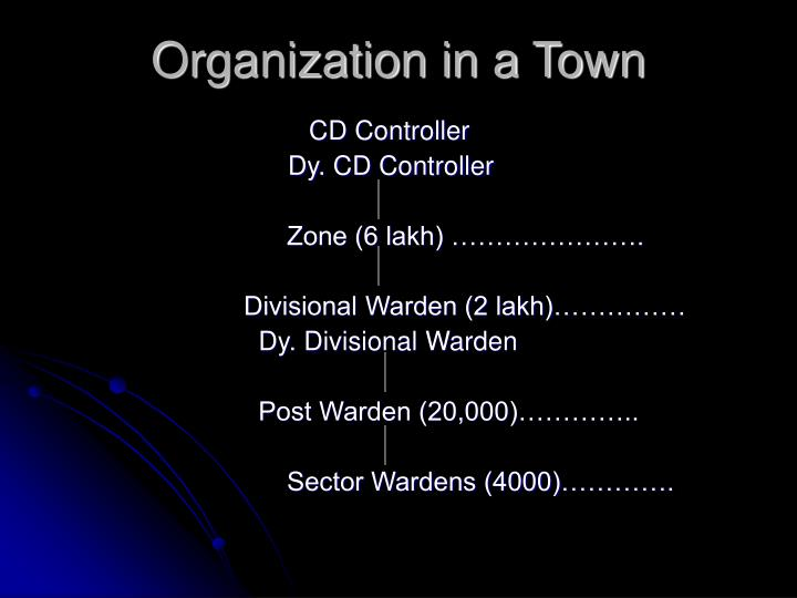 Organization in a Town