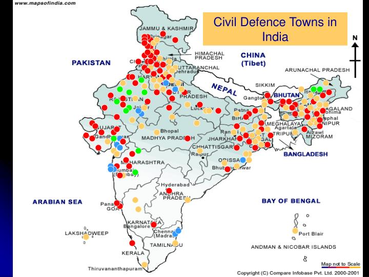 Civil Defence Towns in India
