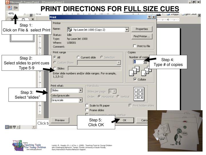 PRINT DIRECTIONS FOR