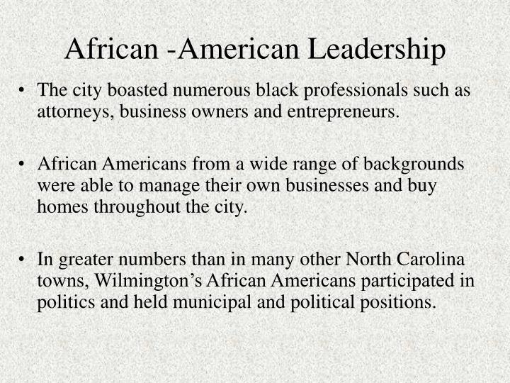 African -American Leadership